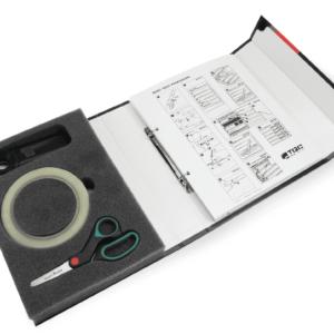 Купить Набор для оценки степени запыленности поверхности по ISO 8502-3 TQC SP3200 (TQC Sheen)